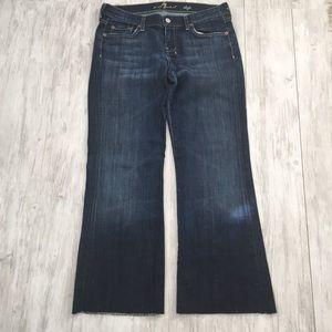 7 For All Mankind Dojo Wide Leg Jeans - 30